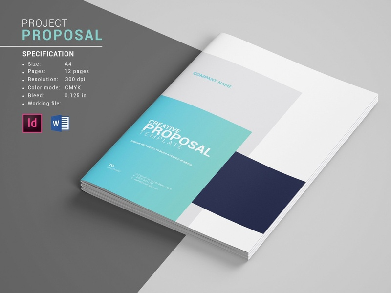 Business Proposal Template, Indesign & MS Word Template free download indesign templates proposal business card design catalogue clean business elegant portfolio modern magazine branding brochure template