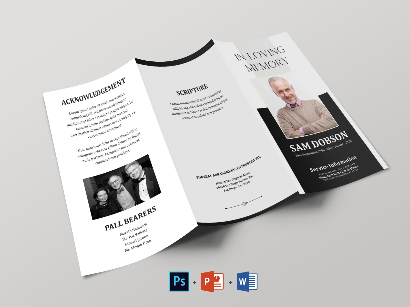 Funeral Booklet Template Free Download from cdn.dribbble.com