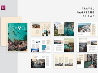 World Travel Magazine free download magazine ad travel world catalogue clean business elegant portfolio modern magazine branding brochure template