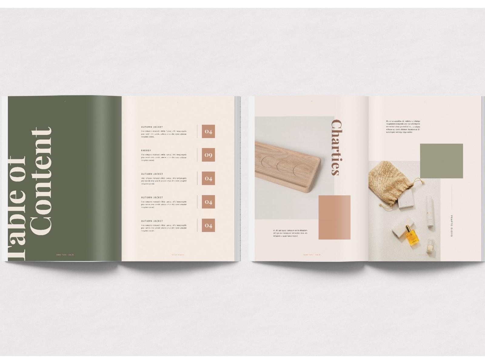 Geraldin Fashion Magazine By Brochure Design On Dribbble