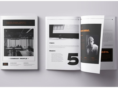 Hours.std Company Profile Brochure download mockup brochure design free download company catalogue clean business elegant portfolio modern magazine branding brochure template