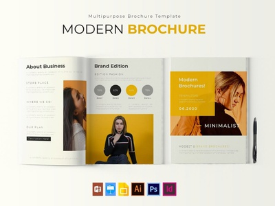 Modern | Brochure Template brochure mockup free download brochure template brochure design catalogue clean business elegant portfolio modern magazine branding brochure template