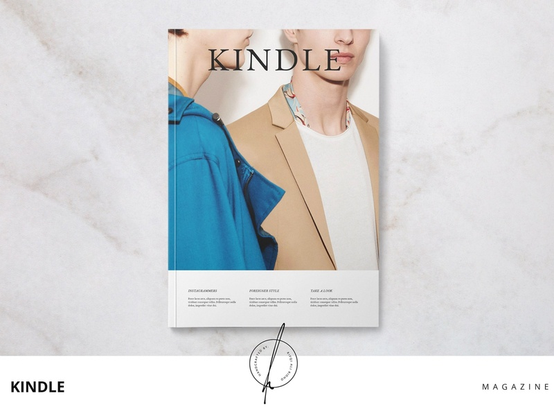 Kindle Magazine download mockup magazine cover free download magazine design kindle magazine ad catalogue clean business elegant portfolio modern magazine branding brochure template