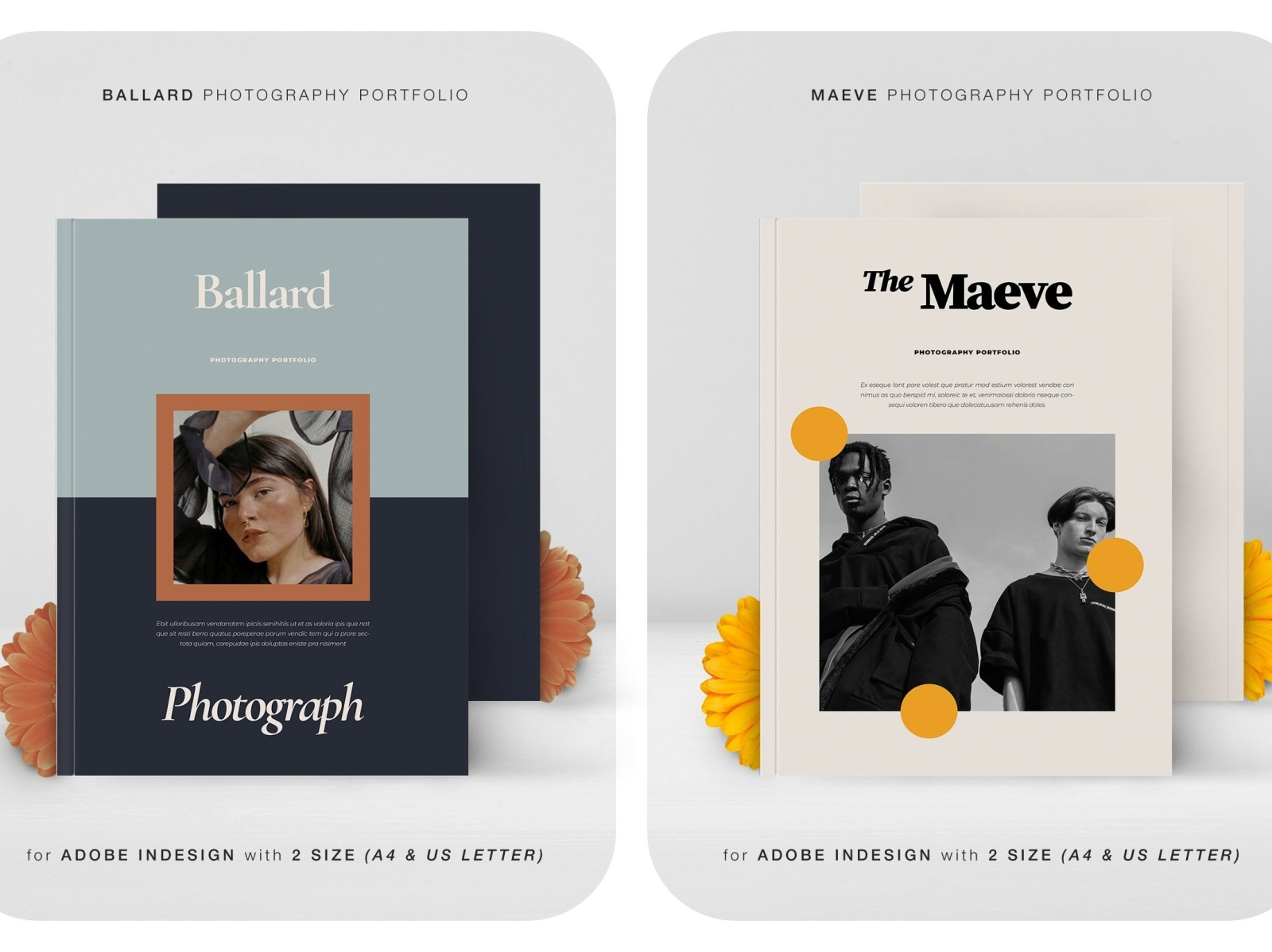 Duo Pack Photography Portfolio 01 By Brochure Design On Dribbble