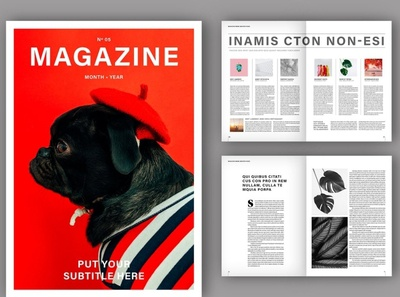 Minimalist Magazine Layout free download magazine ad minimalist catalogue clean business elegant portfolio modern magazine branding brochure template