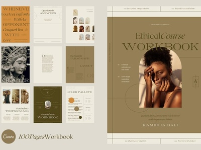Canva Course Workbook | Kamboja canvas download mockup workbook free download canva design clean business elegant portfolio modern magazine branding brochure template