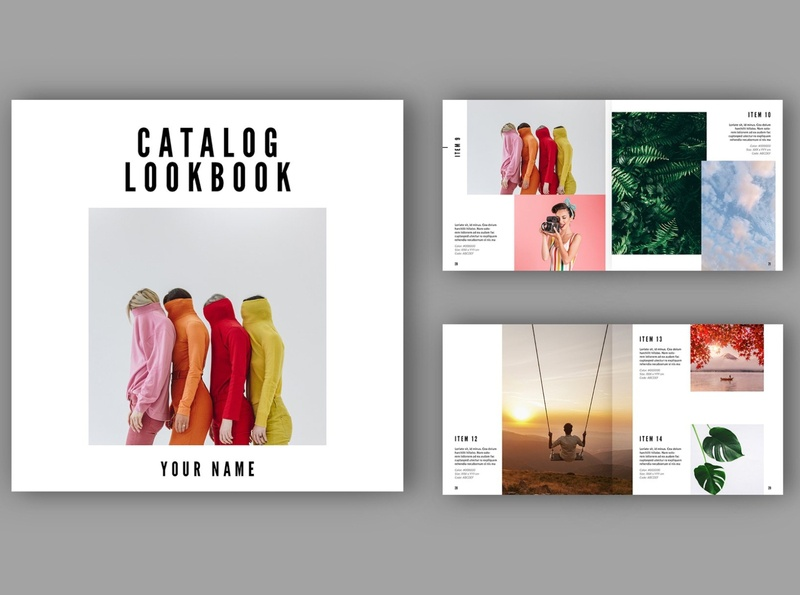 Catalog / Lookbook Template free download templates lookbook indesign catalogue clean business elegant portfolio modern magazine branding brochure template