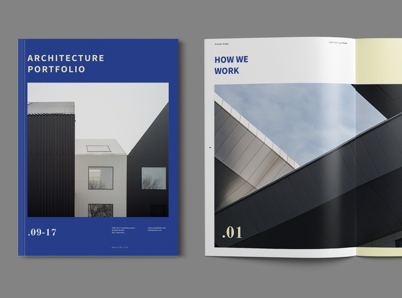 Architecture Portfolio Template portfolio site architecture lookbook indesign catalogue clean business elegant portfolio modern magazine branding brochure template
