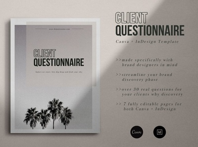Branding Client Questionnaire free download client catalogue clean business elegant portfolio modern magazine branding brochure template