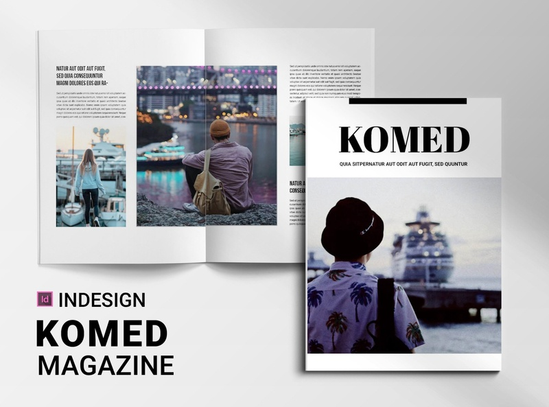 Komed | Magazine free download catalogue clean business elegant portfolio modern magazine branding brochure template
