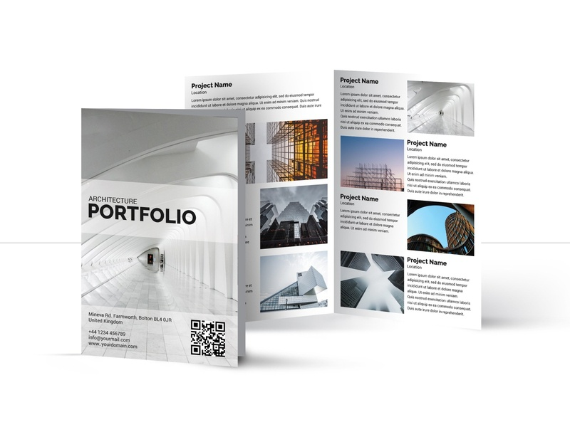 Architecture bifold Brochure | Multipurpose Brochure brochure design multipurpose bifold architecture catalogue clean business elegant portfolio modern magazine branding brochure template