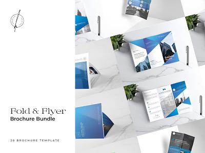 Fold & Flyer Brochure Bundle fashion bundle flyer template flyer design download flyer catalogue clean business elegant portfolio modern magazine branding brochure template
