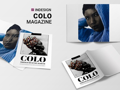 Colo | Magazine magazine ad catalogue clean business elegant portfolio modern magazine branding brochure template