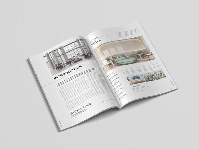 Space Interior | Magazine Template interior space free download templates magazine ad catalogue clean business elegant portfolio modern magazine branding brochure template