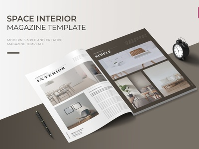 Space Interior | Magazine Template interior space free download templates magazine ad catalogue clean business elegant portfolio modern magazine branding brochure template