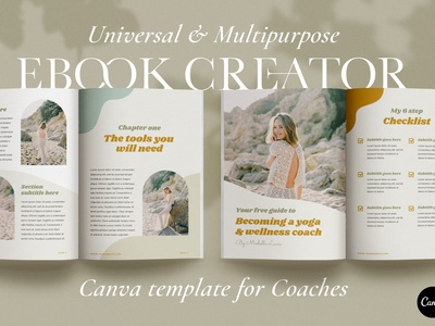 eBook & Guide Template for CANVA free download canva templates catalogue clean business elegant modern magazine branding brochure template portfolio