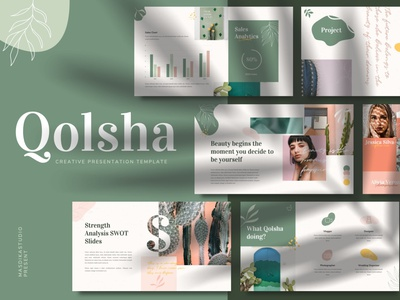 Qolsha - Creative Powerpoint Template templates powerpoint presentation powerpoint design free download powerpoint template powerpoint creative catalogue clean business elegant portfolio modern magazine branding brochure template