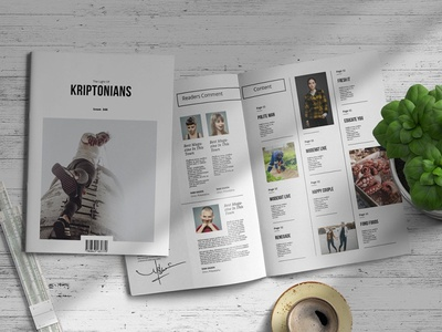 Kriptonians | Magazine Template magazine cover free download magazine design magazine ad catalogue clean business elegant portfolio modern magazine branding brochure template