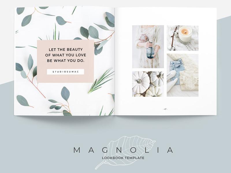 magnolia lookbook template by brochure design dribbble dribbble