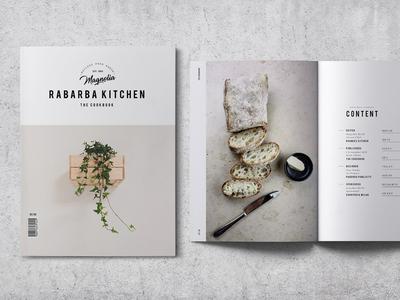 Cookbook / Recipe Book V.02 portfolio editorial kitchen cook restaurant e-book minimalist clean guide modern recipe book cookbook
