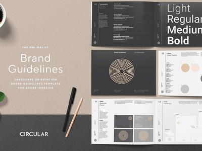 THE MINIMALIST / Brand Guidelines template us letter minimalism branding indesign landscape design brand guidelines minimalist style guide brand guidelines