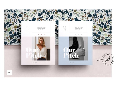 ROSE — Creative Pitch lookbook magazine design brochure clean modern business editorial portfolio branding fashion feminine indesign elegant template studio creative pitch project proposal pitch
