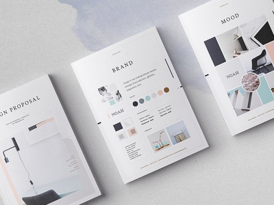 Design Collection creative studio feminine fashion editorial design proposal catalogue brochure magazine clean lookbook indesign modern elegant business portfolio template brief branding