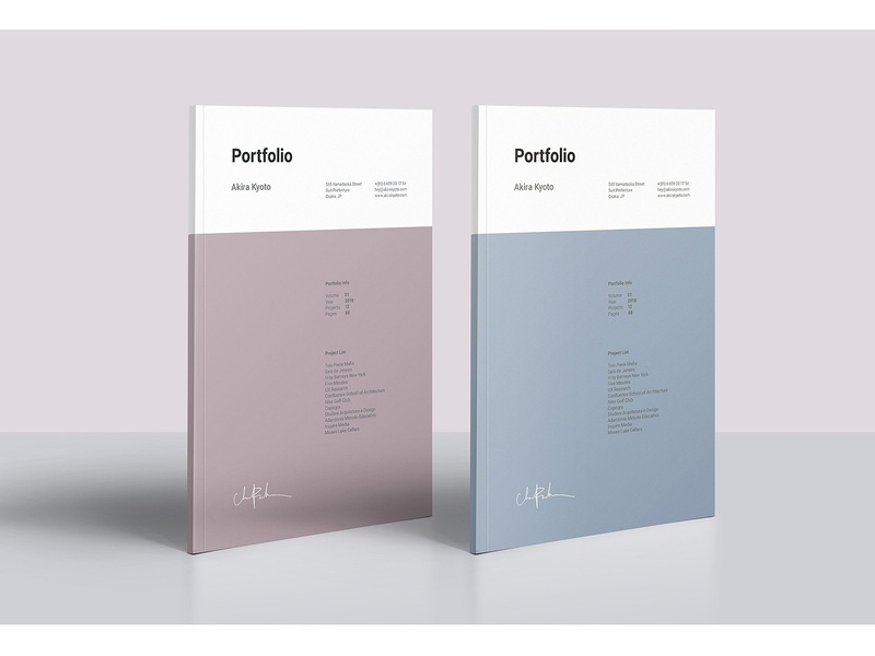 Minimal Portfolio Template feminine catalog fashion proposal design clean studio lookbook editorial catalogue indesign elegant modern business magazine branding portfolio template brochure