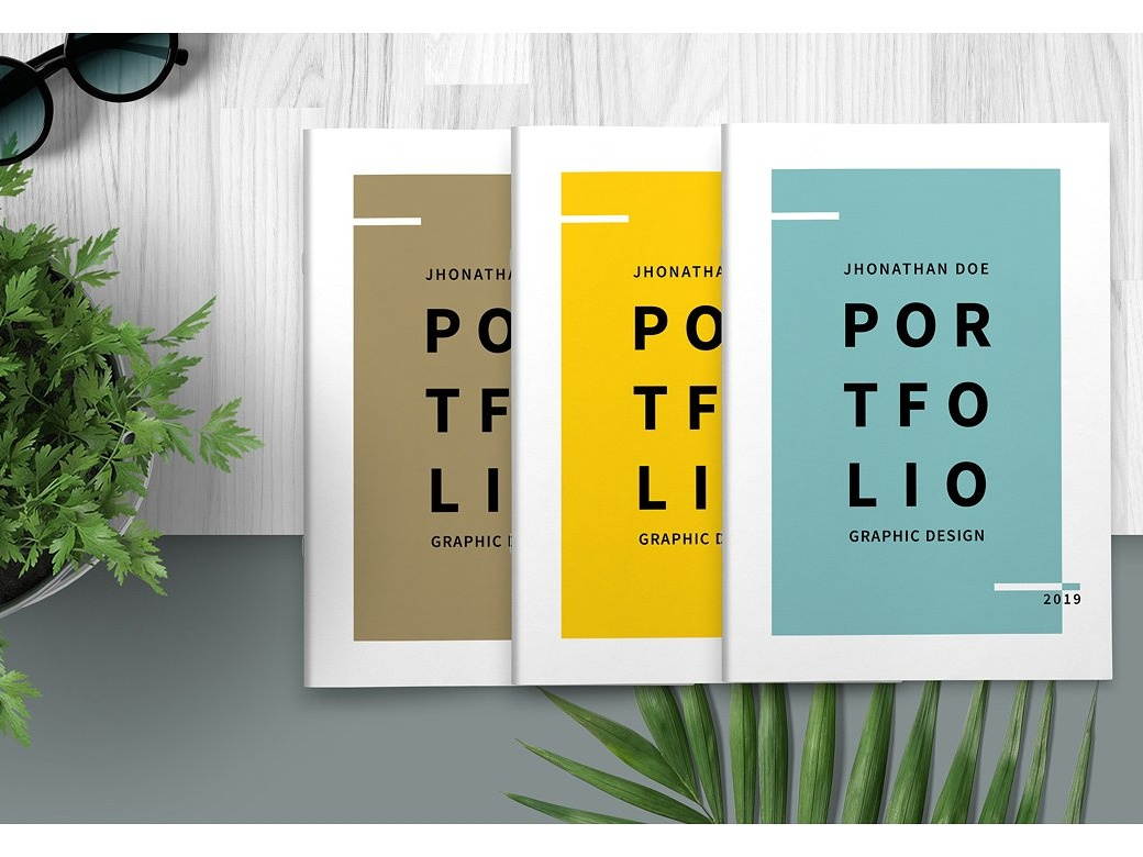 Portfolio Design Template | Graphic Design Portfolio Template By Brochure Design Dribbble