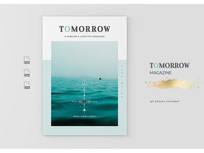 Tomorrow Magazine studio lookbook editorial catalogue indesign elegant modern business magazine branding portfolio template brochure