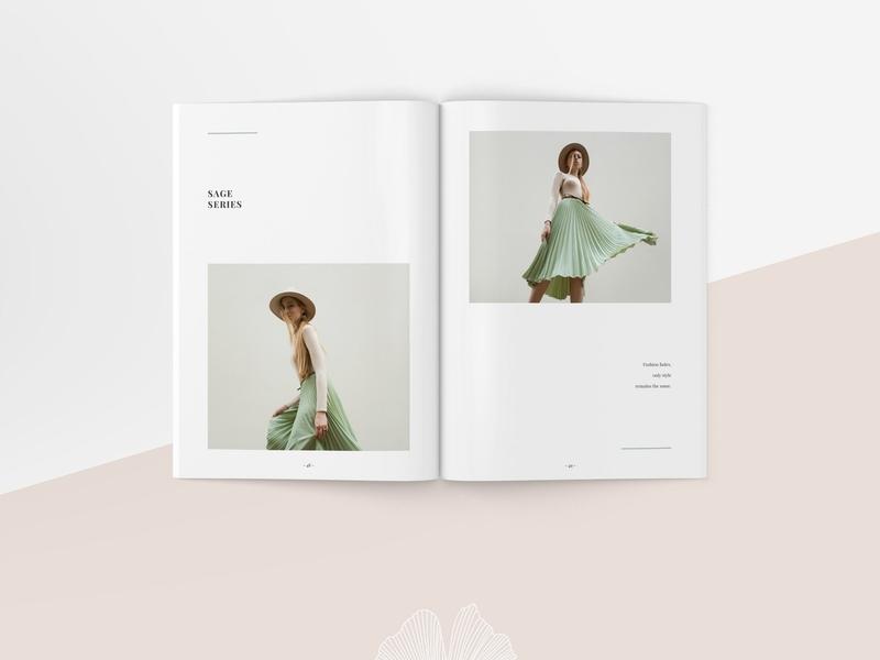 Ginkgo Proposal Template clothing feminine catalog fashion proposal design clean studio lookbook editorial catalogue indesign elegant business modern magazine branding portfolio template brochure