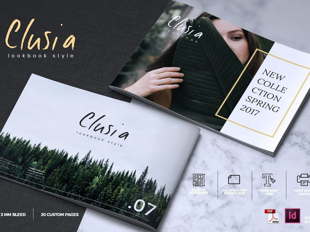 CLUSIA - Lookbook Brochure Catalogue by Brochure Design on