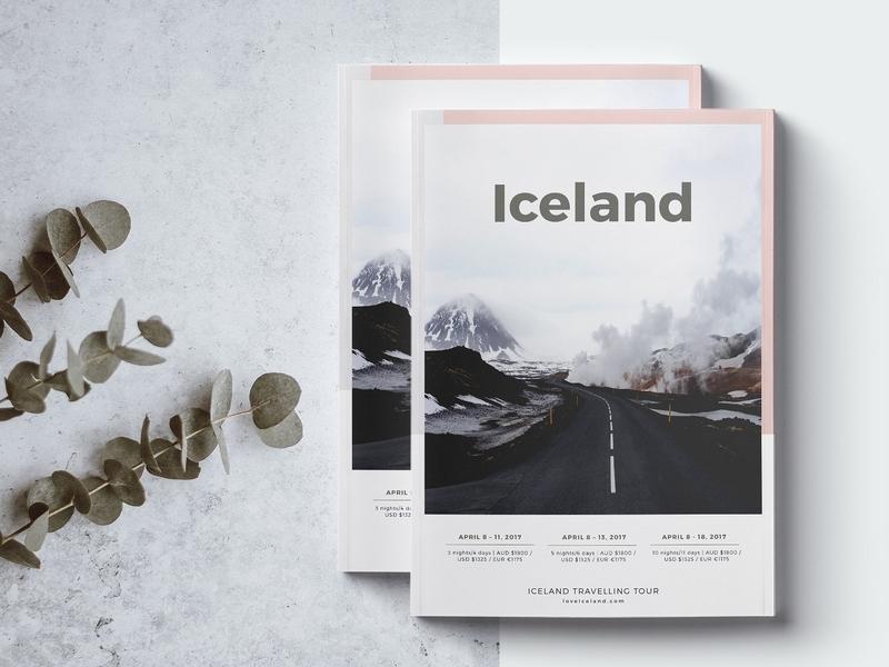 Iceland - Travel Agency Guide clothing feminine catalog fashion proposal design clean studio lookbook editorial catalogue indesign elegant business modern magazine portfolio branding template brochure