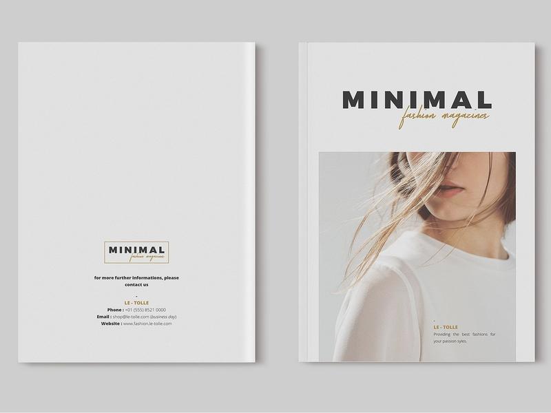 Minimal Fashion Magazines clothing feminine catalog fashion proposal design clean studio lookbook editorial catalogue indesign elegant business modern magazine portfolio branding template brochure