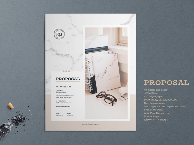 business proposal template by brochure design dribbble dribbble