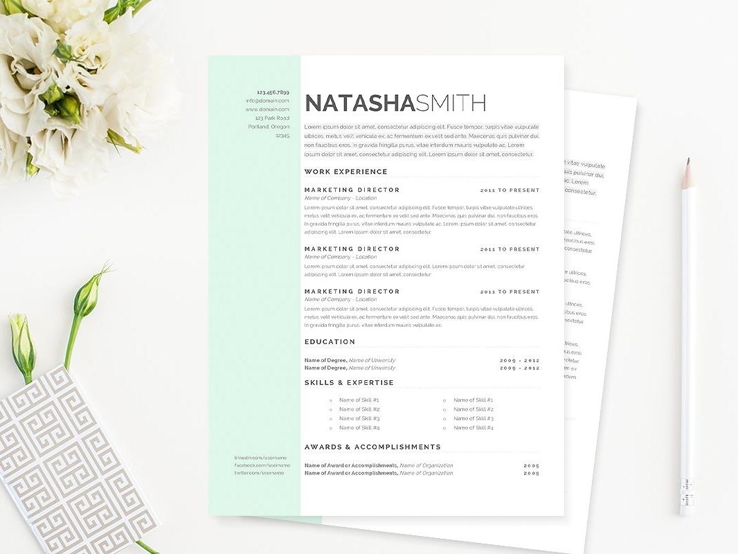 Pastel Dreams Resume Template By Brochure Design Dribbble Dribbble
