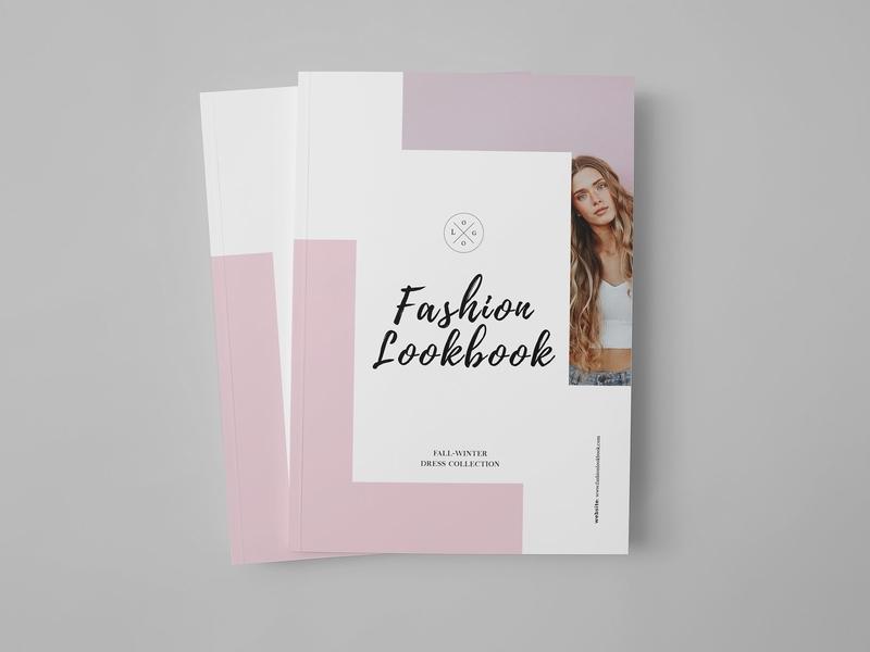 fashion catalog lookbook template by brochure design dribbble