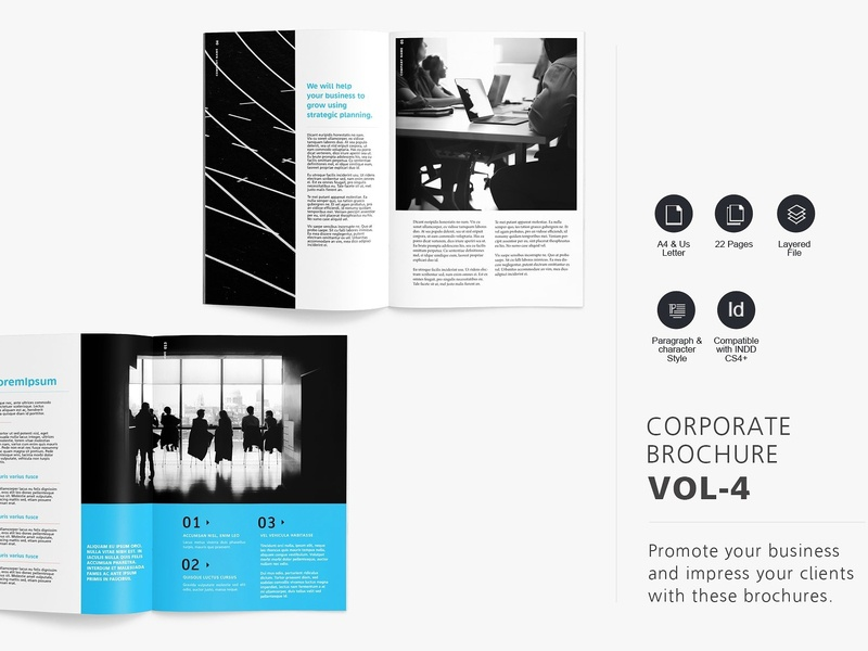 corporate brochure template vol 4 by brochure design dribbble