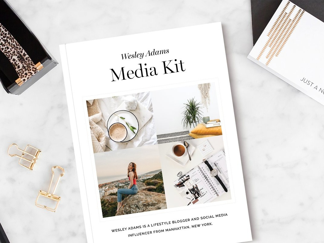 . Blogger Media Kit by Brochure Design on Dribbble