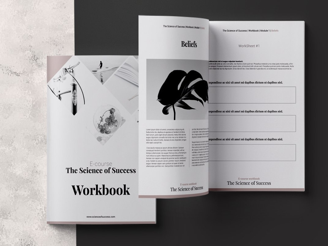e course workbook indesign template by brochure design dribbble