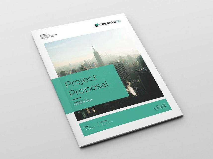 A4 Project Proposal Template By Brochure Design Dribbble Dribbble