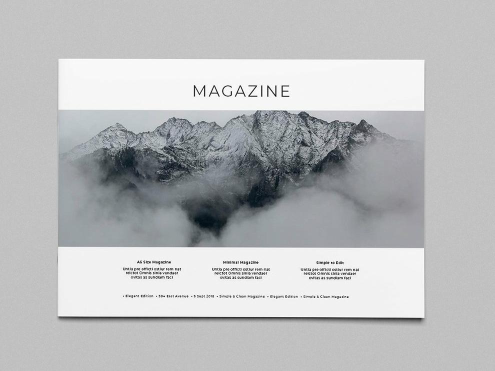 Minimal Landscape Magazine Iii By Brochure Design On Dribbble