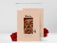 BURN Retro Editorial Lookbook Magz