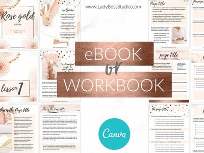 Canva Rose Gold eBook or Workbook