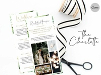 Canva Wedding Photography Rack Card