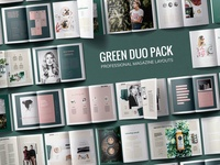 Green Duo Pack / Magazine Templates