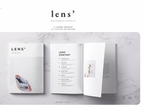 LENS' Photography Portfolio Template