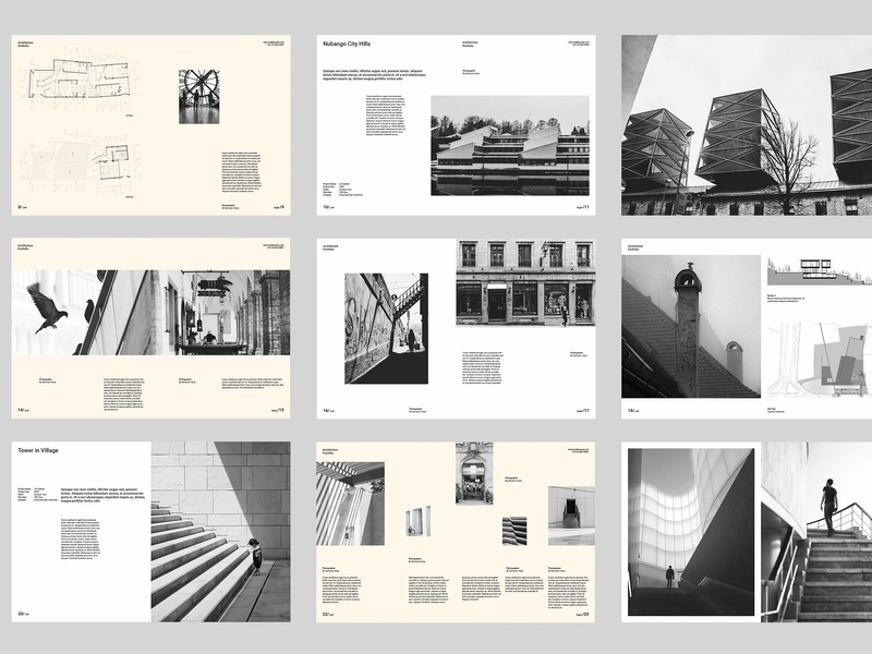 architect portfolio by brochure design on dribbble