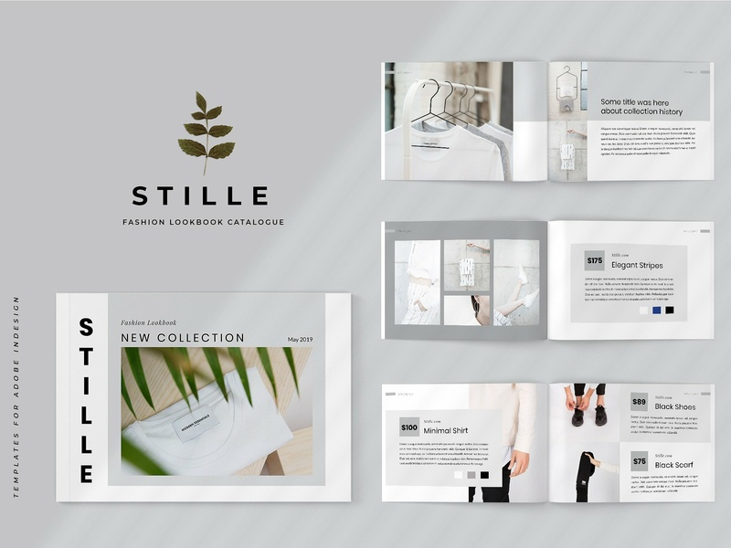 Stille - Fashion Lookbook Catalogue proposal design portfolio magazine branding brochure fashion catalogue fashion template lookbook catalogue lookbook template catalogu white elegant minimal modern clean template catalogue lookbook fashion