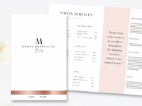 Salon Bi-Fold Brochure Template